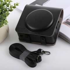 Retro Style Full Body Camera PU Leather Case Bag with Strap for FUJIFILM instax SQUARE SQ6 (Black)
