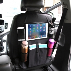 Car Auto Seat Back Bag Multi-Pocket Travel Storage Hanging Pocket Storage Bag for iPad and Other Goods