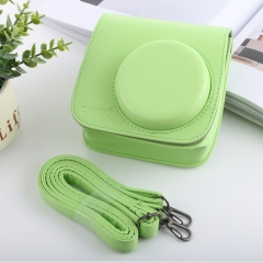 Retro Style Full Body Camera PU Leather Case Bag with Strap for FUJIFILM instax mini 9 / mini 8+ / mini 8(Green)