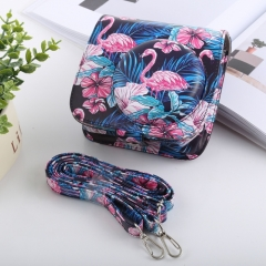 Flamingo Pattern Full Body Camera PU Leather Case Bag with Strap for FUJIFILM instax mini 9 / mini 8+ / mini 8
