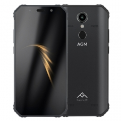 AGM A9 Rugged Phone, 4GB+64GB, IP68 Waterproof Dustproof Shockproof, Fingerprint Identification, 5400mAh Battery, 5.99 inch Android 8.1 Qualcomm SDM450 Octa Core, Network: 4G, OTG, NFC (Black)