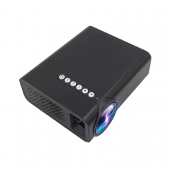 YG520 1800 Lumens HD LCD Projector,Built in Speaker,Can Read U disk, Mobile hard disk,SD Card, AV connect DVD, Set top box. (Black)