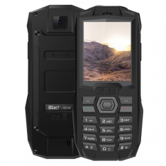 [HK Stock] Blackview BV1000 Rugged Phone, IP68 Waterproof Dustproof Shockproof, 3000mAh Battery, 2.4 inch, FM, Bluetooth, Network: 2G, Dual SIM (Black)