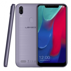 [HK Stock] LEAGOO M11, 2GB+16GB, Dual Back Cameras, 4000mAh Battery, Face ID & Fingerprint Identification, 6.18 inch Android 8.1 MTK6739 Quad Core, Network: 4G, Dual SIM(Gray Blue)