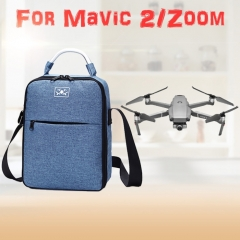 Shockproof Waterproof Single Shoulder Storage Travel Carrying Cover Case Box  for DJI Mavic 2 Pro / Zoom and Accessories (Blue)