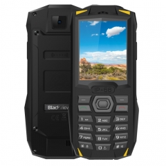 [HK Stock] Blackview BV1000 Rugged Phone, IP68 Waterproof Dustproof Shockproof, 3000mAh Battery, 2.4 inch, FM, Bluetooth, Network: 2G, Dual SIM (Yellow)