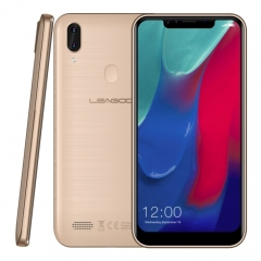 [HK Stock] LEAGOO M11, 2GB+16GB, Dual Back Cameras, 4000mAh Battery, Face ID & Fingerprint Identification, 6.18 inch Android 8.1 MTK6739 Quad Core, Network: 4G, Dual SIM(Gold)