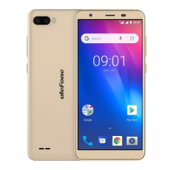 [HK Stock] Ulefone S1 Pro, 1GB+16GB, Dual Back Cameras, Face Identification, 5.5 inch Android GO 8.1 MTK6739 Quad-core 64-bit up to 1.3GHz, Network: 4G, Dual SIM(Gold)