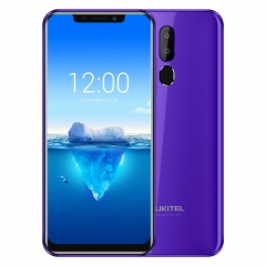 [HK Stock] OUKITEL C12 Pro, 2GB+16GB, Dual Back Cameras, Face ID & Fingerprint Identification, 6.18 inch Android 8.1 MTK6739 Quad Core up to 1.3GHz, Network: 4G, OTG(Purple)