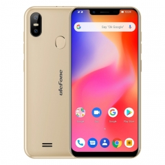 [HK Stock] Ulefone S10 Pro,  2GB+16GB, Dual Back Cameras, Face ID & Fingerprint Identification, 5.7 inch Android 8.1 MTK6739WA Quad-core 64-bit up to 1.3GHz, Network: 4G, OTG, Dual SIM(Gold)