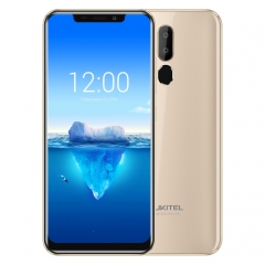[HK Stock] OUKITEL C12 Pro, 2GB+16GB, Dual Back Cameras, Face ID & Fingerprint Identification, 6.18 inch Android 8.1 MTK6739 Quad Core up to 1.3GHz, Network: 4G, OTG(Gold)