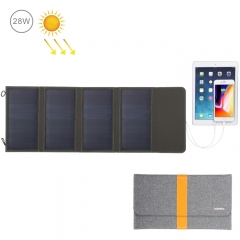 HAWEEL 28W Foldable Solar Panel Charger with 5V 2.9A Max Dual USB Ports