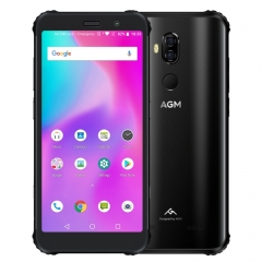 AGM X3 Rugged Phone, 6GB+64GB, IP68 Waterproof Dustproof Shockproof, Face ID & Fingerprint Identification, 4100mAh Battery, 5.99 inch Android 8.1 Qualcomm SDM845 Octa Core, Network: 4G, OTG, NFC, Wire