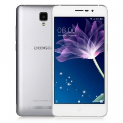 [HK Stock] DOOGEE X10S, 1GB+8GB, 5.0 inch Android GO MTK6580M Quad Core up to 1.3GHz, Network: 3G, OTA, Dual SIM (Space Silver)