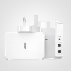 ESR USB-PD + Dual USB Ports Travel Fast Charger, UK Plug(White)