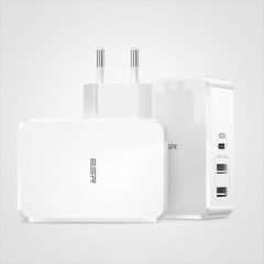 ESR USB-PD + Dual USB Ports Travel Fast Charger, EU Plug(White)