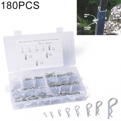 180 PCS Heavy Duty Zinc Plated Cotter R Tractor Clip Pin for Car / Boat / Garages