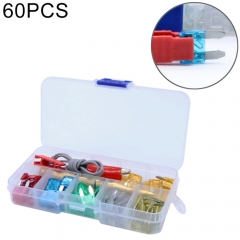 60 PCS Assorted Car Motorcycle Truck Small Size Blade Fuse Set 5A 10A 15A 20A 25A 30Amp & Test Pencil