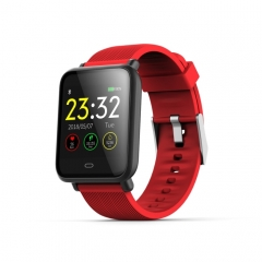 Q9 1.3 inch TFT Color Screen Smart Bracelet,IP67 Waterproof,Support Call Reminder /Heart Rate Monitoring /Blood Pressure Monitoring /Sedentary Reminder /Sleep Monitoring(Red)
