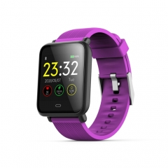 Q9 1.3 inch TFT Color Screen Smart Bracelet,IP67 Waterproof,Support Call Reminder /Heart Rate Monitoring /Blood Pressure Monitoring /Sedentary Reminder /Sleep Monitoring(Purple)