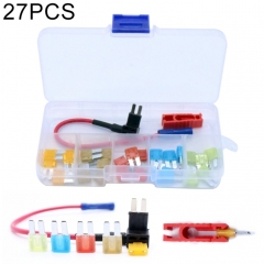 27 PCS Vehicle Blade Style ATR Micro2 In-line Fuse Set 5A 7.5A 10A 15A 20A