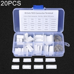 20 Sets TJC3 2.5mm XH 6P 7P 8P 9Pin Male Female Housing Connector with Crimps