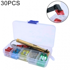 30 PCS Mix Assorted Car Motorcycle Truck Blade Fuse Set Kit 5A 10A 15A 20A 25A 30Amp & Test Pencil