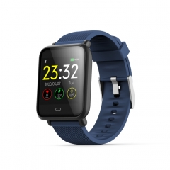 Q9 1.3 inch TFT Color Screen Smartwatch,IP67 Waterproof,Support Call Reminder /Heart Rate Monitoring /Blood Pressure Monitoring /Sedentary Reminder /Sleep Monitoring(Blue)