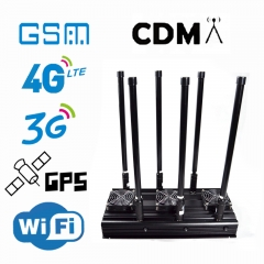 High Power 6 Bands 4GLTE Isolator Indoor Use with Output Power 130W CDMA GSM 3G 4G WIFI2.4Ghz Jamming up to 150m