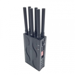 Handheld Lightweight Portable Car Blockers Six-channel Positioning Jammer GPS Signal Interceptors Shielding Device Anti-Tracker