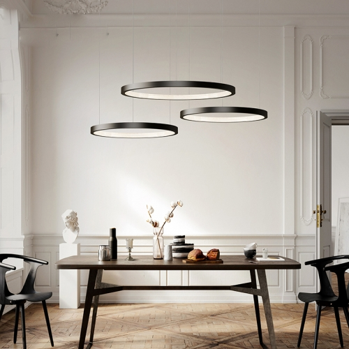 Modern 3Ring LED Chandelier Dimmable Contemporary Ceiling Light LED Pendant Light for Dinning Living Room