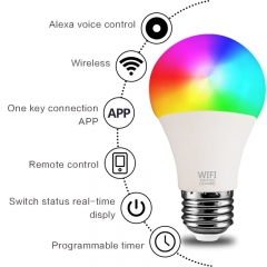 Smart Light Bulbs Tuya Google Assistant Alexa Raw Material Lamp Dimmable Smd Lights for Home