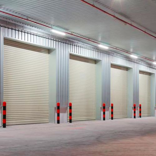 Large galvanized steel roll up shutter door | SG110
