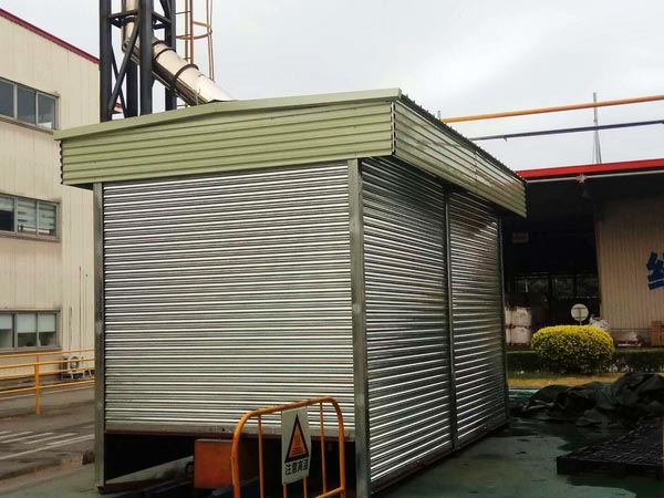 4 nos of galvanized steel rolling shutter doors,to be shipped to Africa
