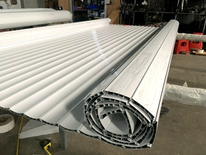 DIY custom made aluminum roller shutter door