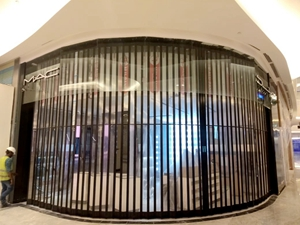polycarbonate folding closures & folding grilles, for MAC in Mall of muscat,Oman
