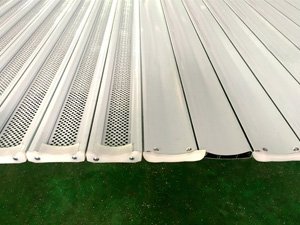 China manufacturer of aluminum roller shutter door with airflow