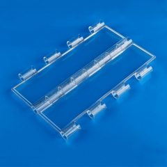 Transparent clear roller shutter door for shops, stores