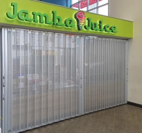 Aluminum security side sliding folding shutters for shops