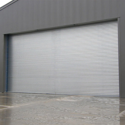 Windproof industrial steel rolling shutter door