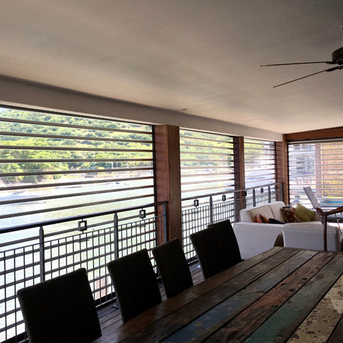 Transparent polycarbonate rolling shutters for residential home balcony | PC100