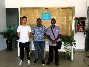 business visit from our client in Maldives