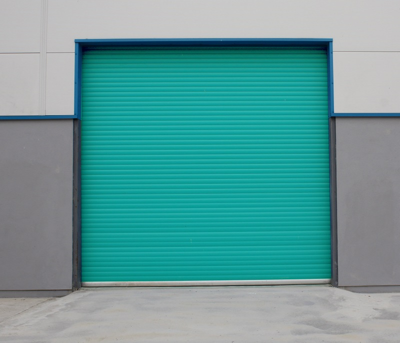 Galvanized steel roller shutter door