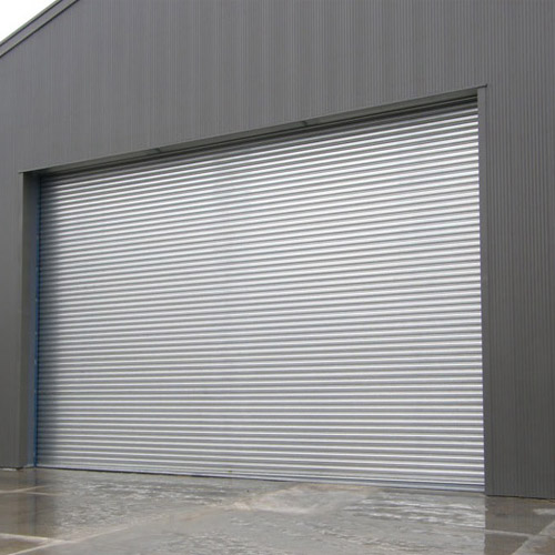 Industrial steel rolling shutter door