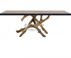 Metal Unique And Modern Granite Dining Table