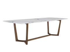 White Room Set Modern Chair Marble Top Dining Table