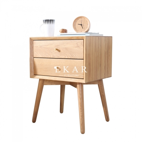 Northern Europe Modern Furniture Solid Wood Drawers Bedside Table Nightstands