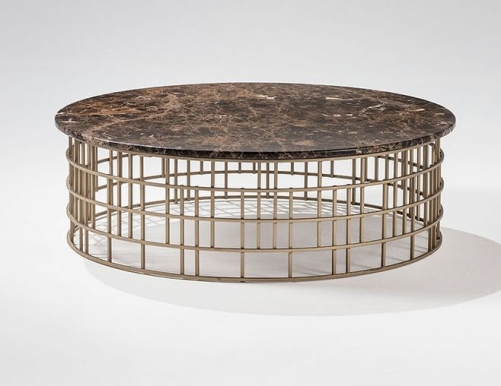 modern marble gold metal stainless steel round coffee table