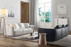 Modern Italian Furniture 3 Seater Small Cream Sofa