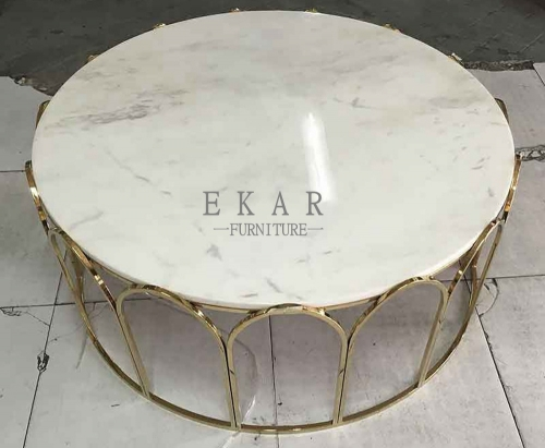 Furniture Home White And Glass Coffee Table